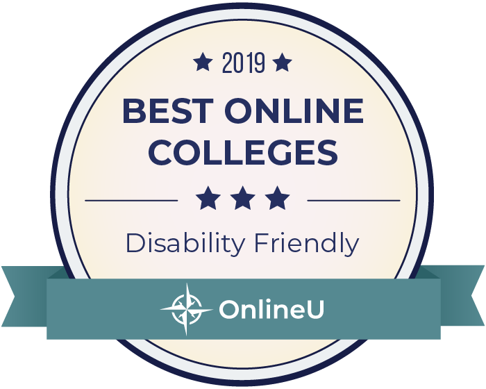 2019 Best Online Colleges for Students with Disabilities Badge