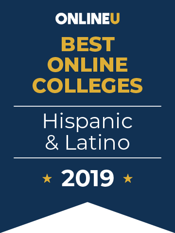 2019 Best Online Colleges for Hispanic & Latino Students Badge