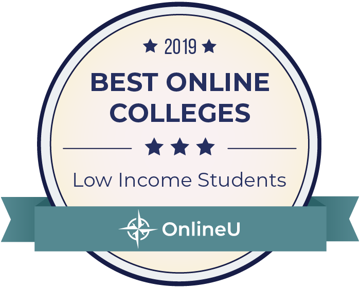 2019 Best Online Colleges for Low-Income Students Badge