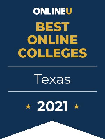 2021 Best Online Colleges in Texas Badge