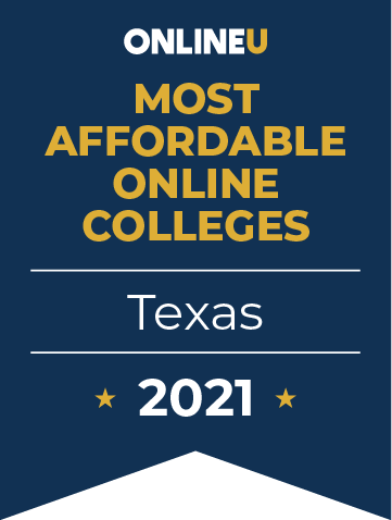 2021 Best Online Colleges in Texas by Salary Badge