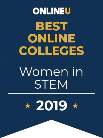 2019 Best Online Colleges Supporting Women in STEM Badge