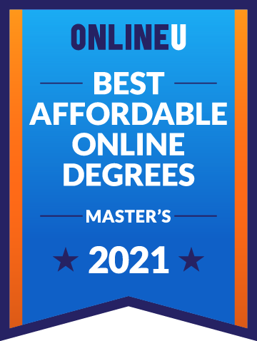 2021 Most Affordable Master's Degrees Badge