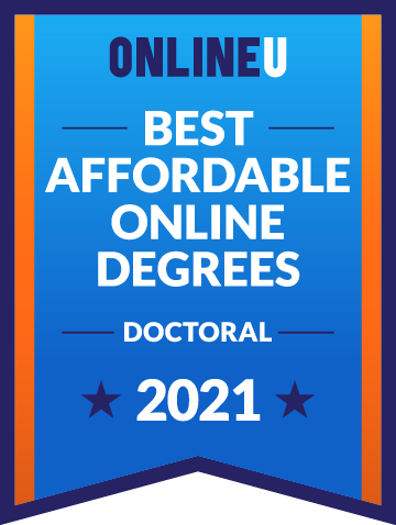 2021 Most Affordable Doctoral Degrees Badge