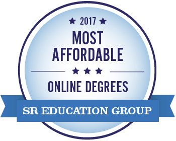 The 2017 Most Affordable Online Degrees badge