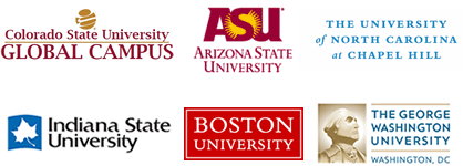 We work with over 300 traditional and non-traditional universities.