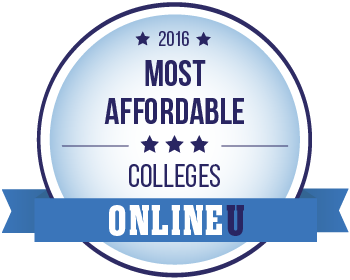 The Most Affordable Online Colleges 2016 badge