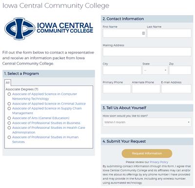 Screenshot of a Premium Referral Listing school