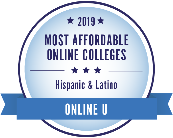 2019 Most Affordable Online Colleges for Hispanic and Latino Students Badge