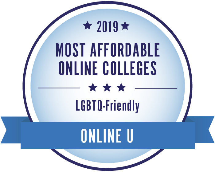 2019 Most Affordable Online LGBTQ-Friendly Colleges Badge