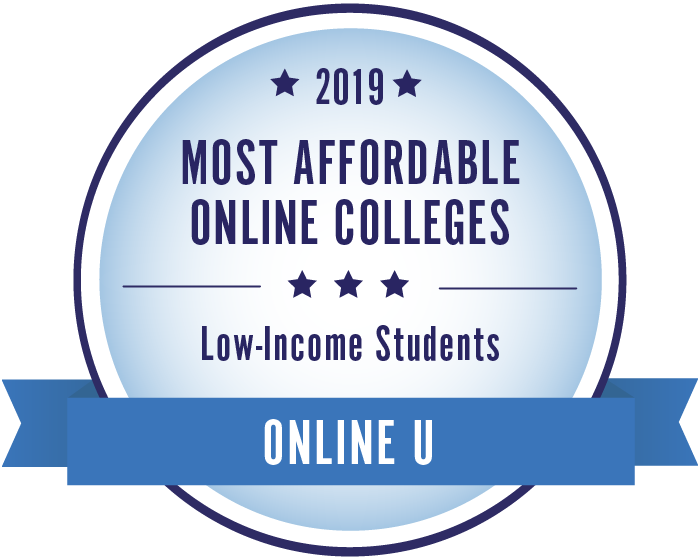 2019 Most Affordable Online Colleges for Low-Income Students Badge