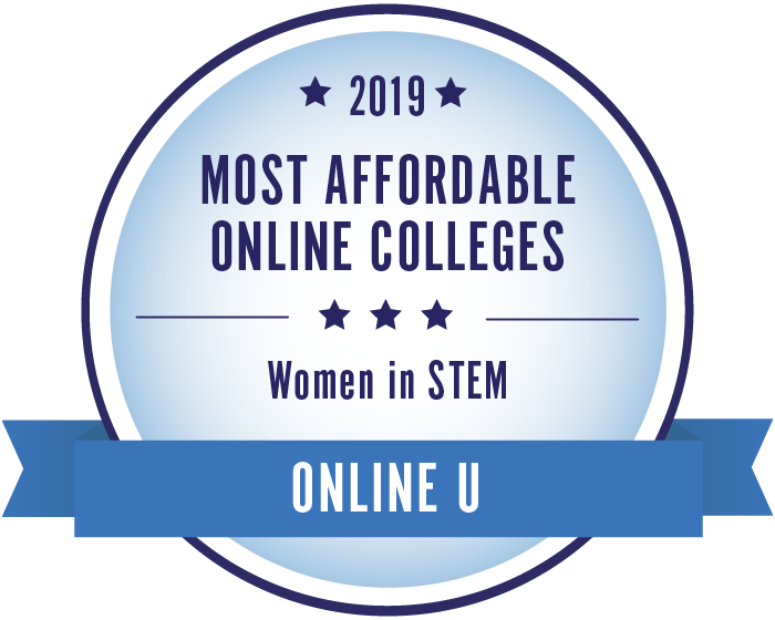 2019 Most Affordable Online Colleges for Women in STEM Badge