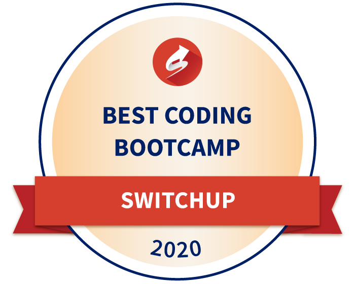 Badge for Best coding bootcamp in 2020 by SwitchUp