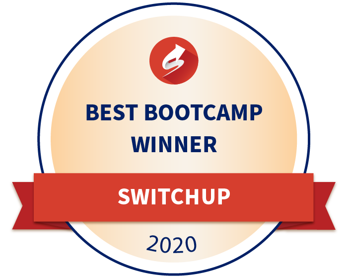 Best coding bootcamp badge 2020