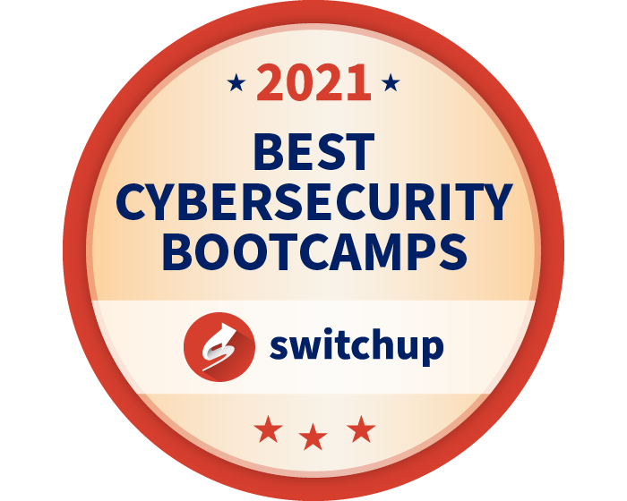 2021 Best Cybersecurity Bootcamps Badge