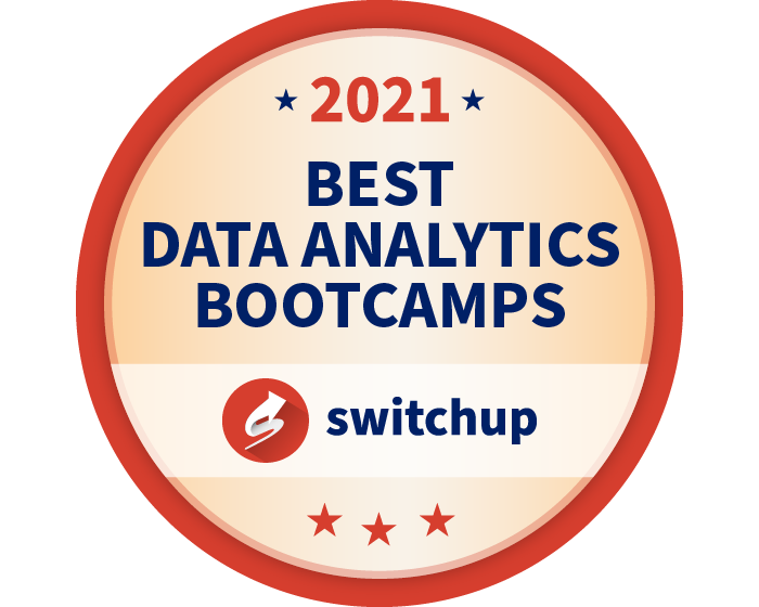 2021 Best Data Analytics Bootcamps Badge