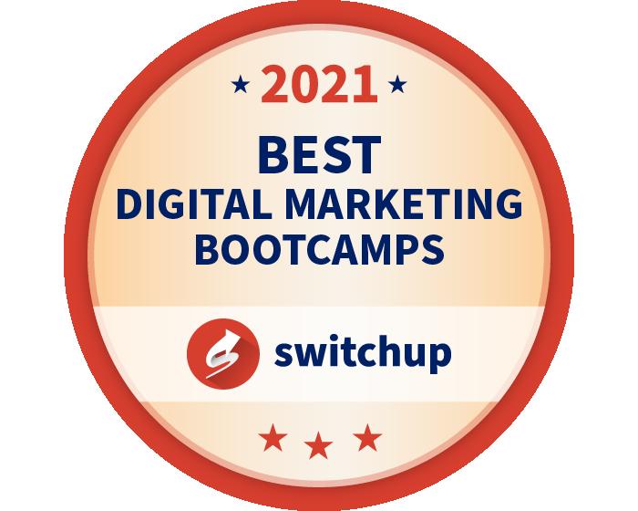 2021 Best Digital Marketing Bootcamps Badge