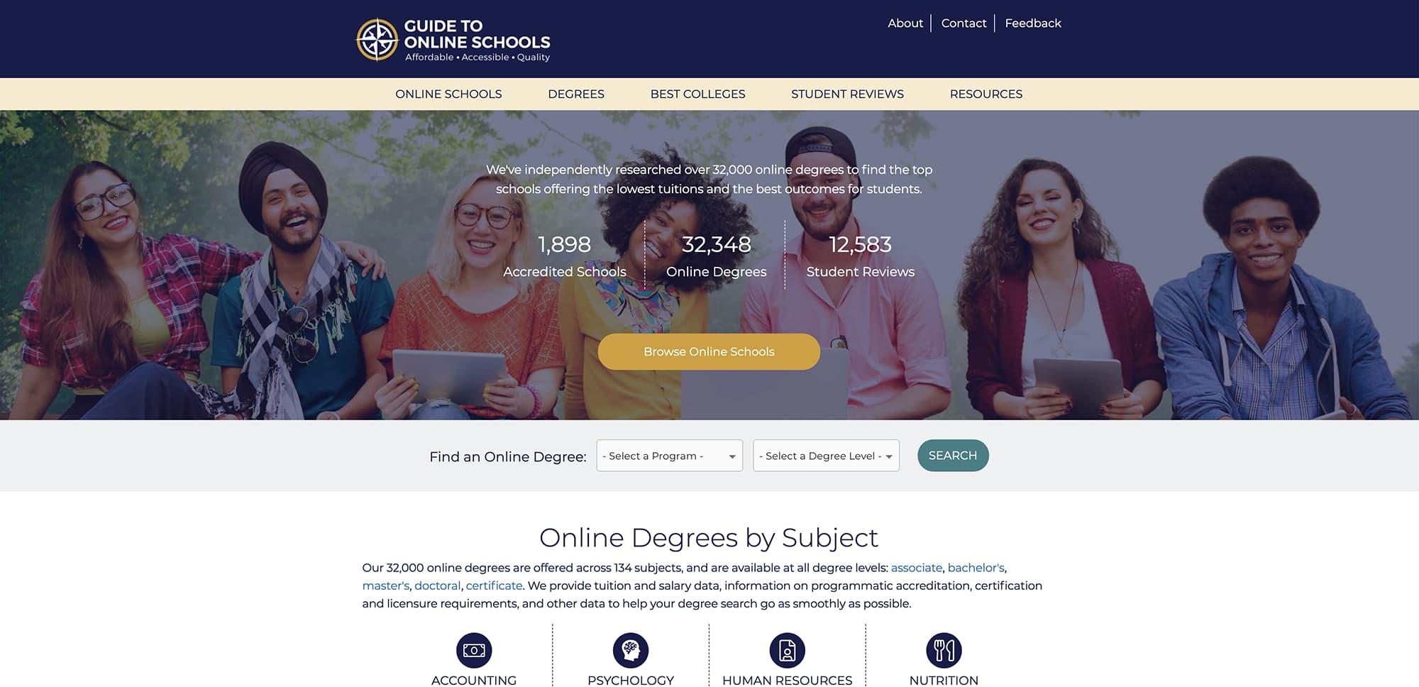 GuidetoOnlineSchools screenshot
