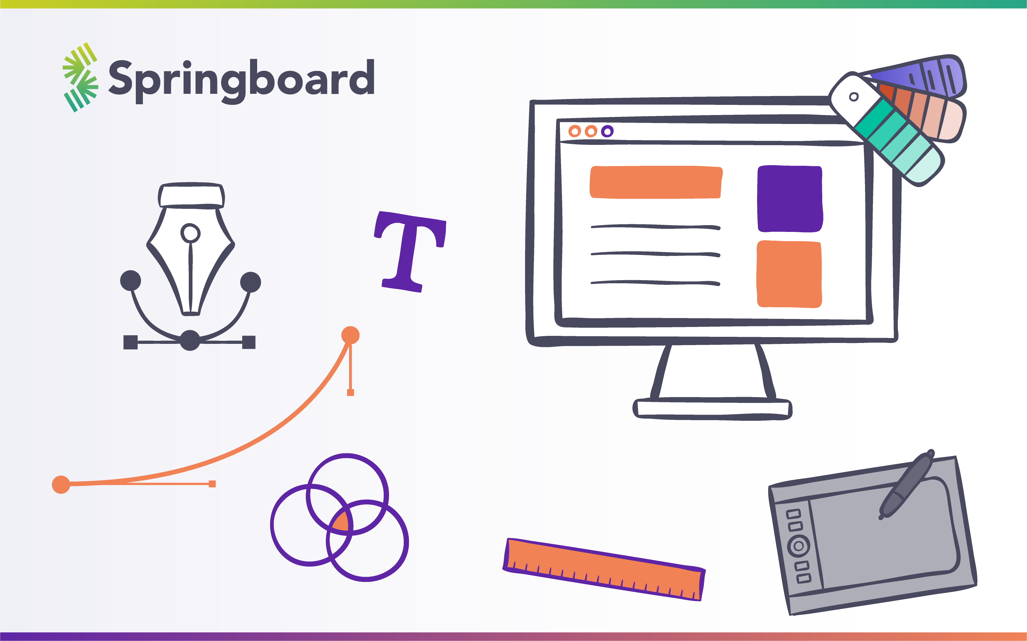 design tools and materials with Springboard logo