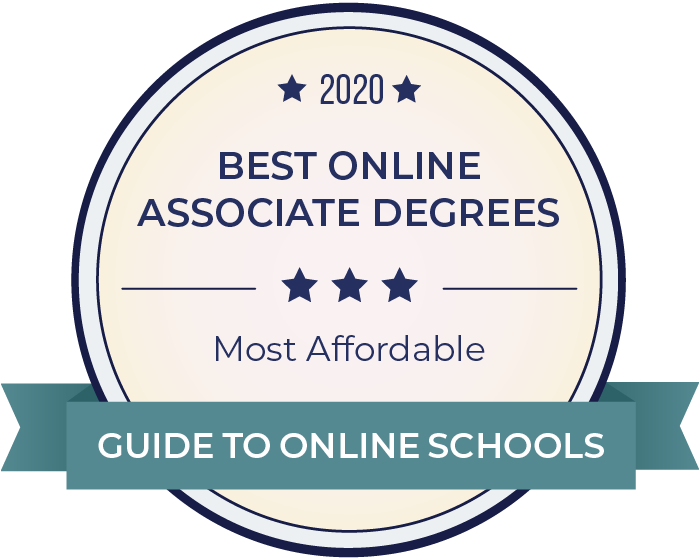 2020 Most Affordable Online Associates Badge