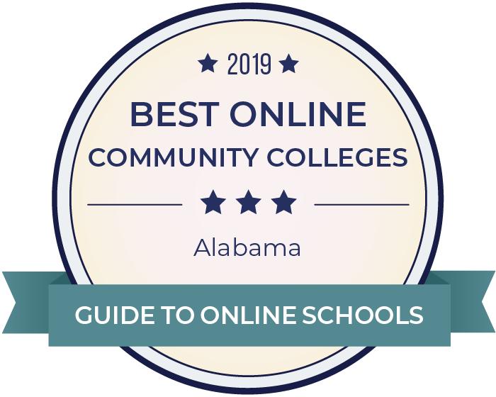 2019 Best Online Community Colleges in alabama Badge