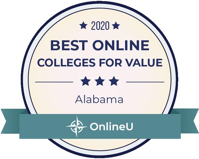 2020 Best Online Colleges in alabama Badge