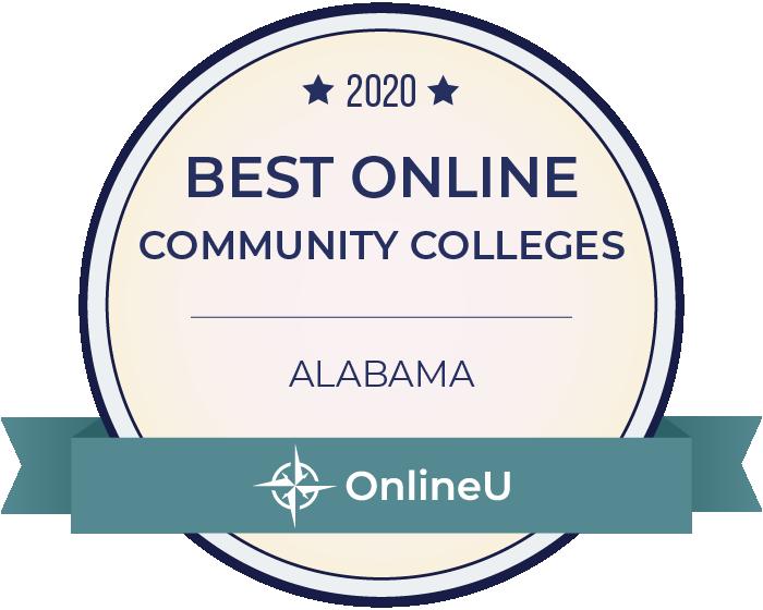 2020 Best Online Community Colleges in Alabama Badge