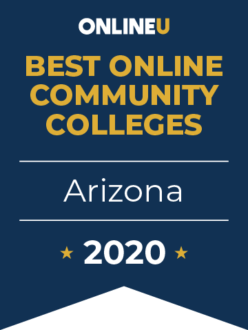 2020 Best Online Community Colleges in Arizona Badge