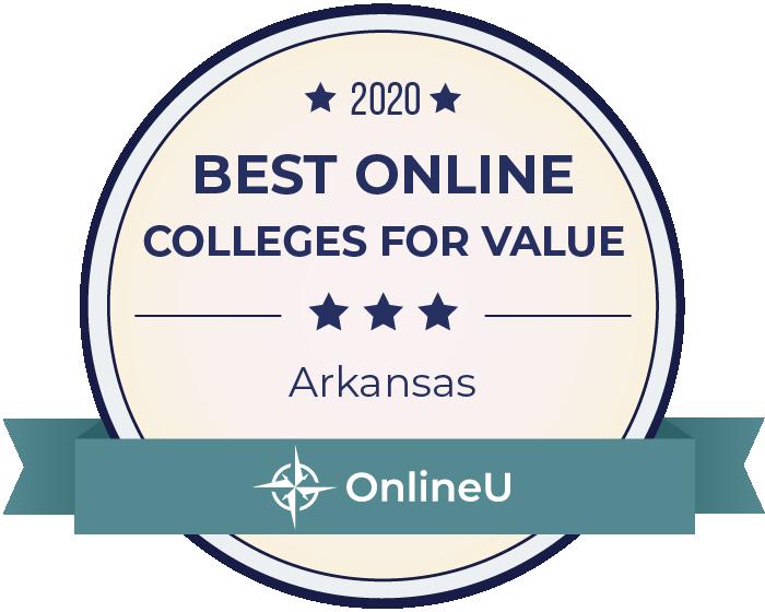 2020 Best Online Colleges in Arkansas Badge