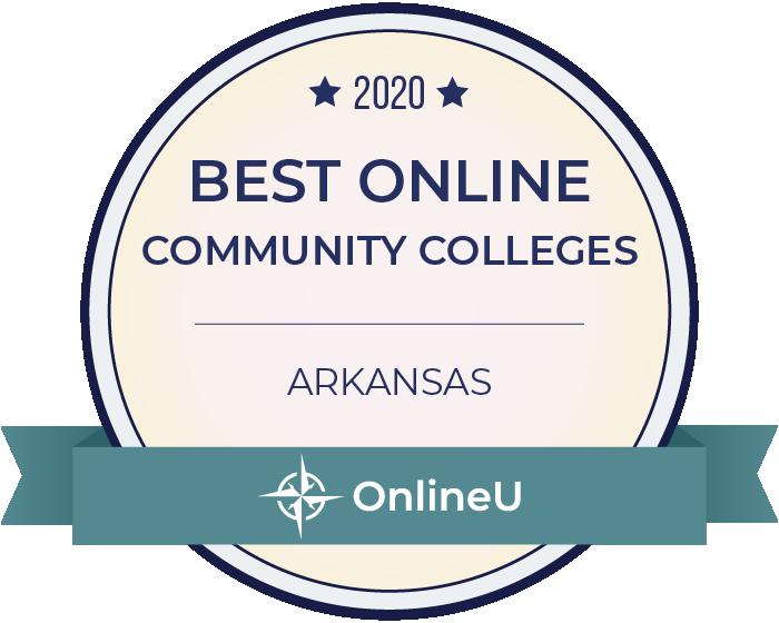 2020 Best Online Community Colleges in Arkansas Badge