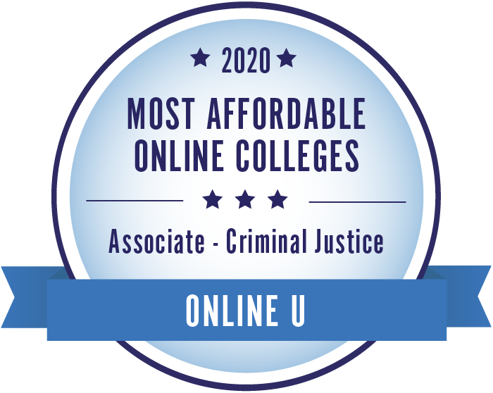2020 Most Affordable Criminal Justice Associate Degrees Badge