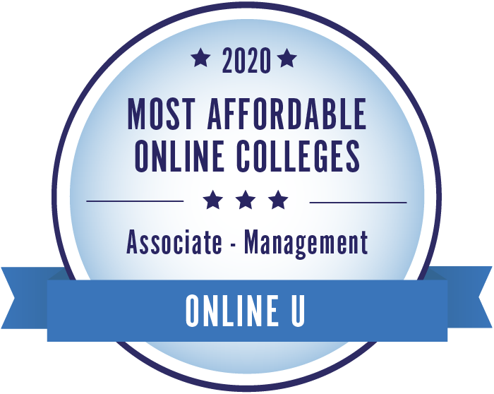 2020 Most Affordable Management Associate Degrees Badge
