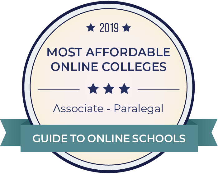 Paralegal-Most Affordable Online Degrees-2019-Badge