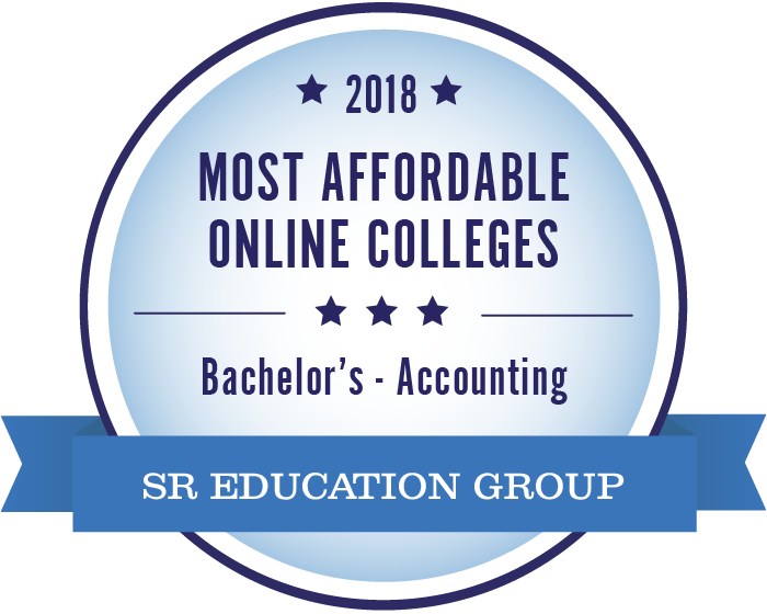 Accounting-Most Affordable Online Colleges-2018-Badge