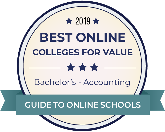 2019 Best Online Colleges Offering Bachelor's in Accounting Badge