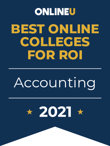 2021 Best Online Colleges Offering Bachelor's Degrees in Accounting Badge