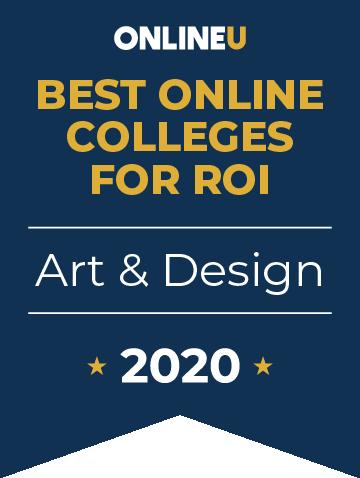 2020 Best Online Colleges Offering Bachelor's in Art & Design Badge