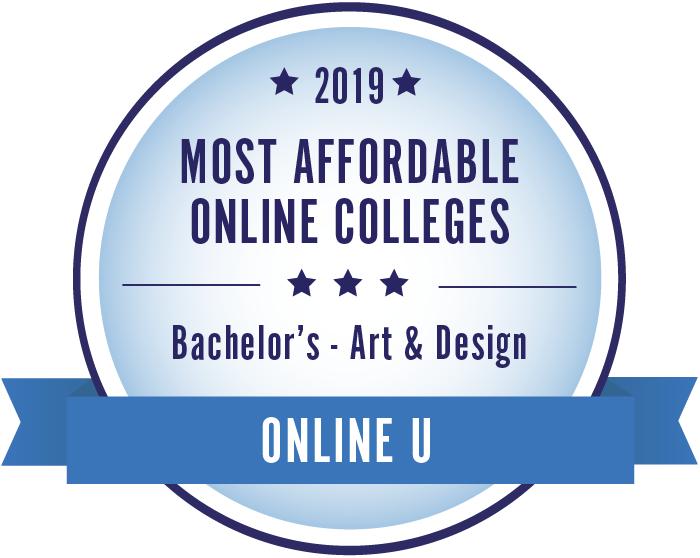 Art & Design-Top Online Colleges-2019-Badge