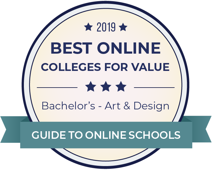 2019 Best Online Colleges Offering Bachelor's in Art & Design Badge