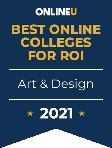 2021 Best Online Colleges Offering Bachelor's Degrees in Art & Design Badge