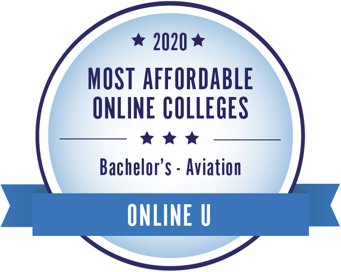 2020 Most Affordable Aviation Bachelors Degrees Badge