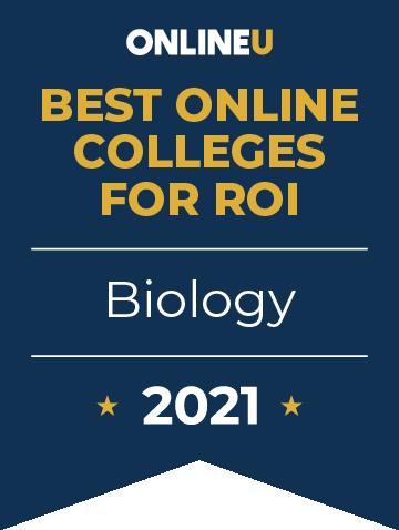 2021 Best Online Colleges Offering Bachelor's Degrees in Biology Badge