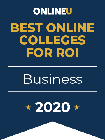 2020 Best Online Colleges Offering Bachelor's in Business Badge