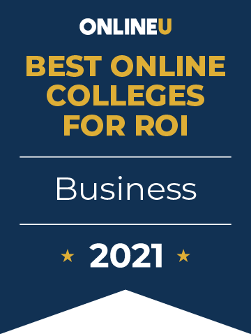 2021 Best Online Colleges Offering Bachelor's Degrees in Business Badge