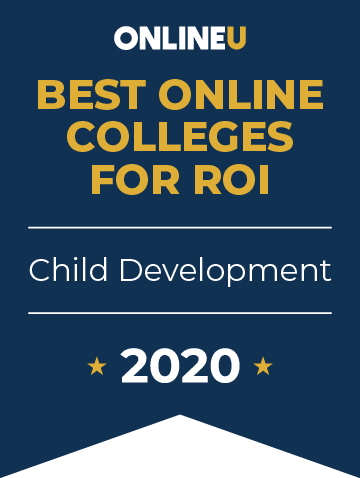2020 Best Online Colleges Offering Bachelor's in Child Development Badge