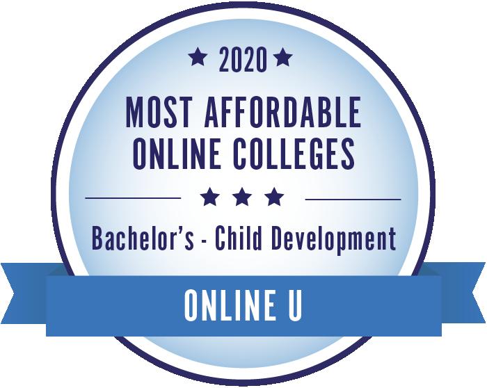 2020 Most Affordable Child Development Bachelors Degrees Badge