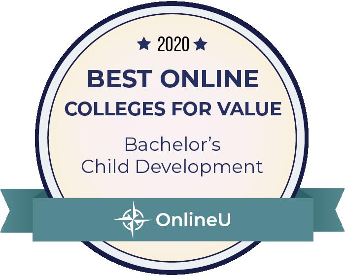 2020 Best Online Colleges Offering Bachelor's in Child Development Badge