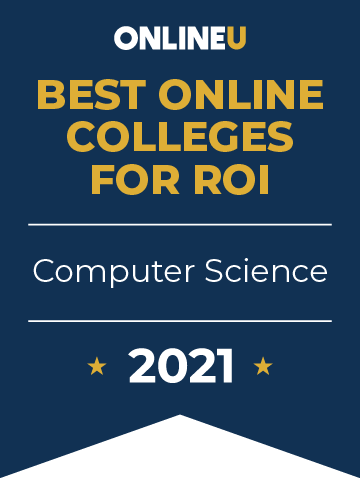 2021 Best Online Colleges Offering Bachelor's Degrees in Computer Science Badge
