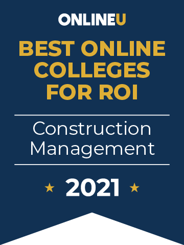 2021 Best Online Colleges Offering Bachelor's Degrees in Construction Management Badge