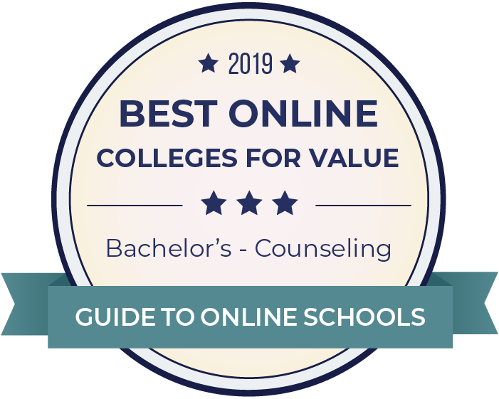 2019 Best Online Colleges Offering Bachelor's in Counseling Badge